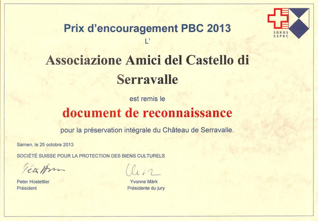 aacs-premio-incoraggimaneto-pbc-2013
